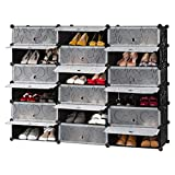 LANGRIA 18-Cube DIY Shoe Rack,...