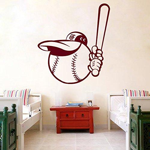 Vinyl Wandtattoo Wettbewerb Baseball Spieler Sport Ball Ballspiel Wandaufkleber Wandsticker Wanddekoration Fototapete Dekoration für Kinderzimmer, Schlafzimmer, Studio M61
