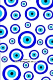 Evil Eye Hamsa Charm Password Book Symbol Curse Protection Good Luck Lucky Blue on White: Discreet internet password organizer logbook personal keeper ... tabs gifts for adults women men coworker