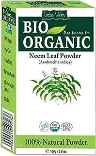 Bio Organic 100% Natural Neem Leaf Powder con libro de recetas gratis 100g (Neem Leaf Powder)
