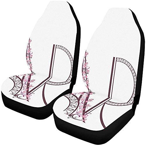 Alice Eva Fundas de asiento Torre Eiffel rosa con letras de París Pro