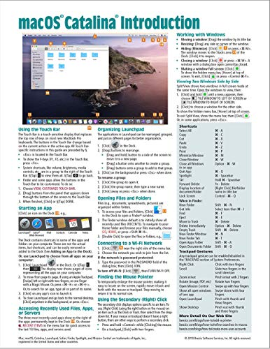 macOS Catalina Introduction Quick Reference Guide (Cheat Sheet of Instructions, Tips & Shortcuts - L