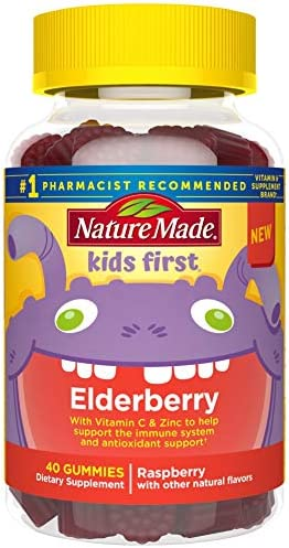 Nature Made Elderberry Gummies with Vitamin C & Zinc, 60 count to Help Support the Immune System