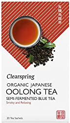 Clearspring Organic Japanese Oolong Tea, Semi-Fermented Blue Tea - Teabags, 36 g