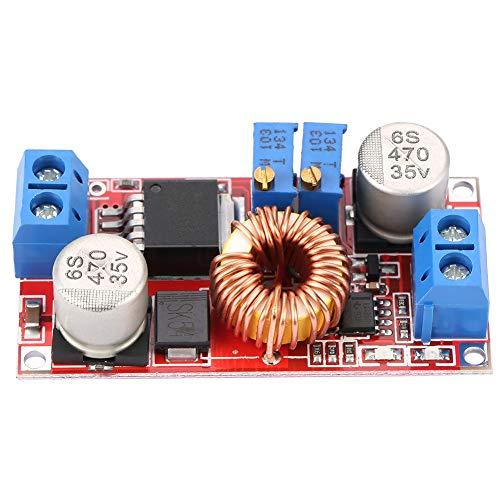 LANTRO JS - Placa de alimentación de Carga de batería de Iones de Litio, módulo de Fuente de alimentación Reductor de regulador de Voltaje 10.5-70V a 1.25-36V 5A 75W