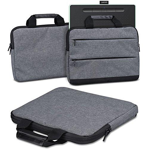 Schutzhülle Wacom Intuos M Grafiktablett Tasche Sleeve Case Stifttablett Hülle in Grau Tragetasche mit Griffen Universal Schutztasche, Farbe:dunkel Grau
