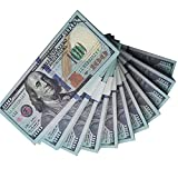 Muvopct Movie Prop Money Full Print 2 Sided,100 pcs 100 Dollar Bills Stack,Copy Money for Movies,Videos,Teaching and Birthday Party