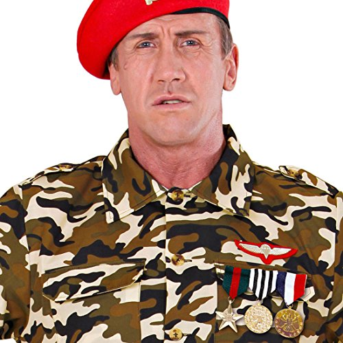 NET TOYS Militär Rangabzeichen Armee Orden Abzeichen 3er Set Veteran Dienstgradabzeichen Offizier Ehrenmedaille Kriegsheld