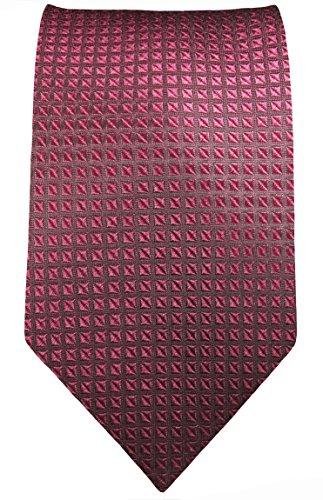 Paul Malone Krawatte schmal 6cm mauve Waffelmuster Seidenkrawatte (Normallänge 150cm)