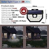ソーラーライト ソーラーガーデンライト屋外ランプ屋外装飾ライトソーラー防水高輝度バルコニー照明を充電します AiHua Huang (Color : 1, Size : フリー)