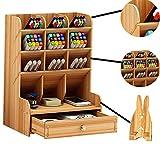 Catekro Caja de Almacenamiento de Oficina de Gran Capacidad, Suministros de Oficina Soporte de Bolígrafo de Almacenamiento de Papelería Multifuncional