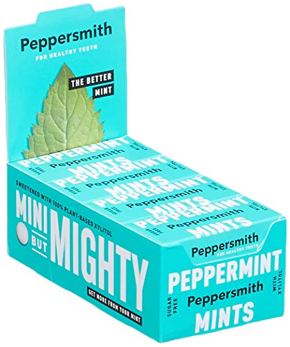 Peppersmith 100% Xylitol Mints Pfefferminze 15 g, (12 x 15 g), 1er Pack (1 x 0.18 kg)