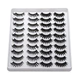 20 Pairs/set Beauty Eye Makeup Tools Handmade Mixed Styles Wispies Fluffies 3D Faux Mink Thick Long False Eyelashes(202)
