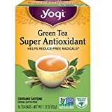 Yogi Tea - Green Tea Super Antioxidant (4 Pack) - Organic Green Tea Blend to Support Overall Health - 64 Tea Bags