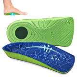Plantar Fasciitis Insoles for Women/Men, QBK Shoe Inserts Women Orthotic Inserts for Flat Feet High Arch and Over-Pronation, Standing Walking and Running are More Comfortable-L