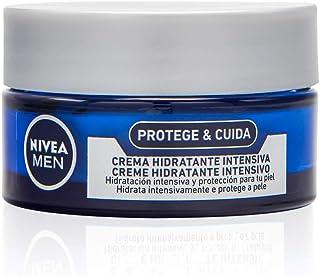 NIVEA MEN Protege & Cuida Crema Hidratante Intensiva (1 x 50 ml) crema facial hidratante con aloe vera crema para hombre...