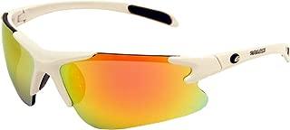 Rawlings Kids' 103 Baseball Sunglasses (White/Orange Revo)
