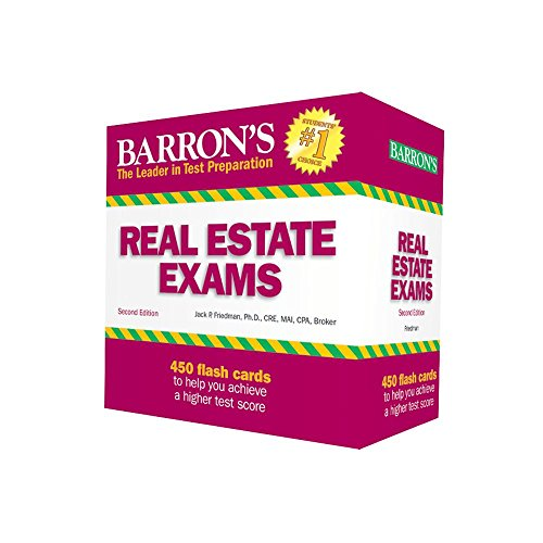 Compare Textbook Prices for Real Estate Exam Flash Cards Second Edition ISBN 9780764167713 by Friedman Ph.D., Jack P.