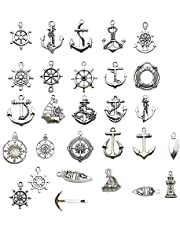 50 قطعة من الحيوانات البحرية والحياة البحرية الحلي الحرفية ، اكسسوارات المجوهرات صنع الملحقات ، DIY قلادة أساور (CFM066)