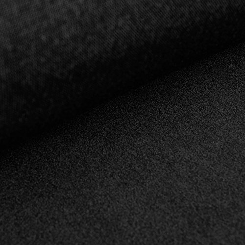 Claude Samtstoff / Bühnensamt / Dekosamt / Möbelsamt - flammenhemmend gem. DIN 4102 B1 (schwarz) (per 0,5 m)