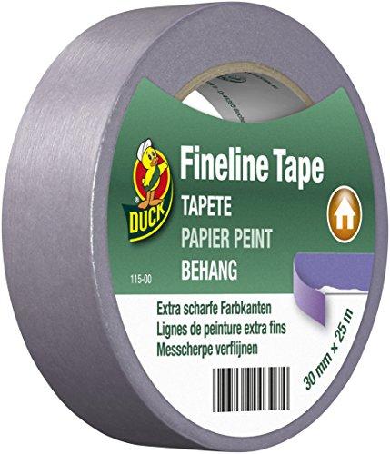 DUCK Fineline Tape 115-00 – Imprägniertes Maler Abklebeband zum Streichen – Malerband mit Washi-Tec für Tapeten – 30mm x 25m
