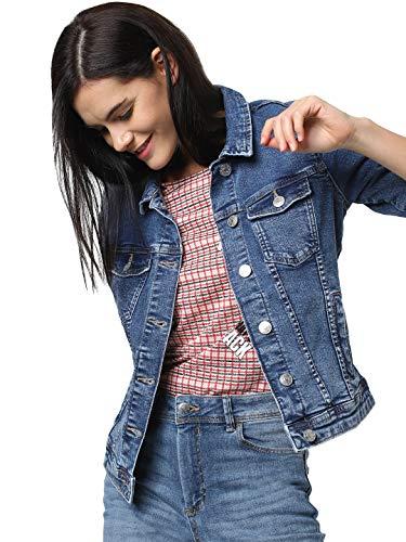 ONLY NOS Damen Jeansjacke onlTIA DNM Jacket BB MB BEX02 NOOS, Blau (Medium Blue Denim), (Herstellergröße: 42)