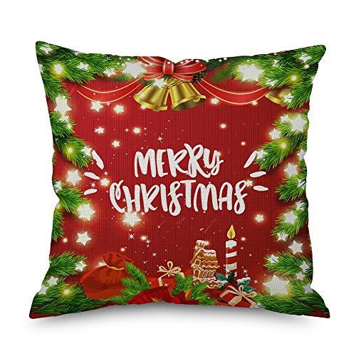 N /A Decoración Interior Manta Decoración del Hogar 18x18 Fundas de Almohada Hogar Decorativa Sofá Navidad Funda de Cojín Sofá Coche Dormitorio 18x18 Pulgadas