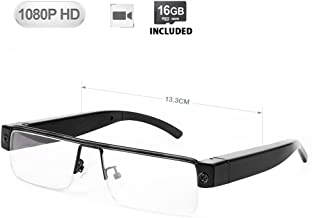 WISEUP 16GB 1920x1080P Wearable Hidden Camera Glasses Mini DV Camcorder Video Recorder (2018 Version)