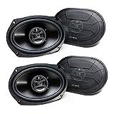 Hifonics Zeus ZS-693, 800 Watt 6 x 9 Inch 3 Way Car Audio Coaxial Speakers, 2 Pairs, Black