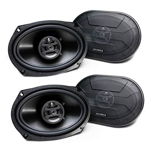 Hifonics Zeus 800 Watt 6 x 9 Inch 3 Way Car Audio Coaxial Speakers, 2 Pairs