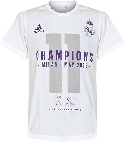 Adidas Real Madrid Officiel 2016Champions League Winners T-Shirt pour Enfants Blanc