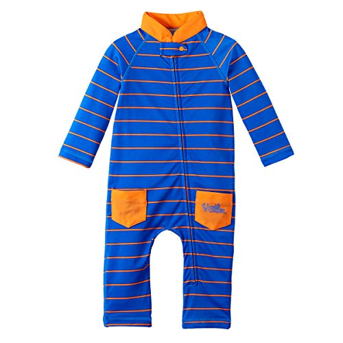 UV Skinz UPF 50+ Baby Boys Sun & Swim Suit - Royal Fun Stripe -12/18 month