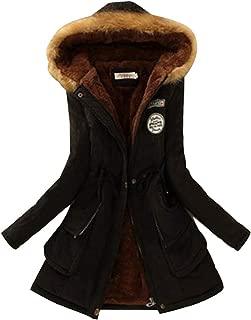 KINDOYO Ladies Coats - Warm Winter Parkas Jacket Faux Fur Lined Overcoats - 15 Colors Available