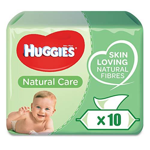 Huggies, Natural Care, Salviettine detergenti per neonati, 10 confezioni da 56 pz.