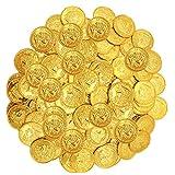 Toddmomy Monete d'oro di Plastica del Gioco del Giocattolo Monete Tesoro dei Pirati Monete Rapinatore Costume Monete Occidentale Forniture Casino A Tema Favori di Partito Partito Pirata
