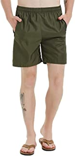 Men Swim Trunks with Zipper Pockets Quick Dry Bathing Suits Mesh Lining