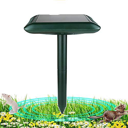 HEWXWX RéPulsif Campagnol avec L'éNergie Solaire, RéPulsif Serpent Souris Ultrasonique, ImperméAble ExtéRieur sans Rayonnement pour Garden Field Forest Vegetable Field Farm,2pack