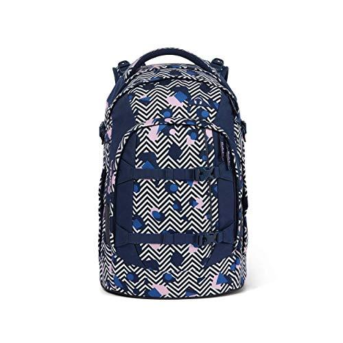 satch Pack Stoney Mony, ergonomischer Schulrucksack, 30 Liter, Organisationstalent, Lila