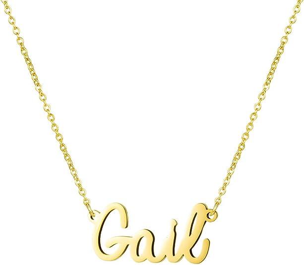 Awegift Personalized Name Necklace 18K