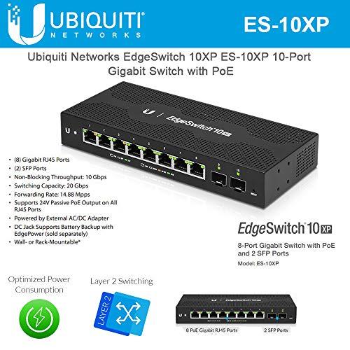 Ubiquiti Networks EdgeSwitch 10XP, Managed 10-Port Gigabit Switch with PoE (ES-10XP)