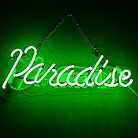 LiQi【PARADISE】 green ネオン 看板 NEON SIGN デザイン、省エネ、バー、オーム、カフェ、喫茶店、広告用看板、クラブ及び娯楽場所等