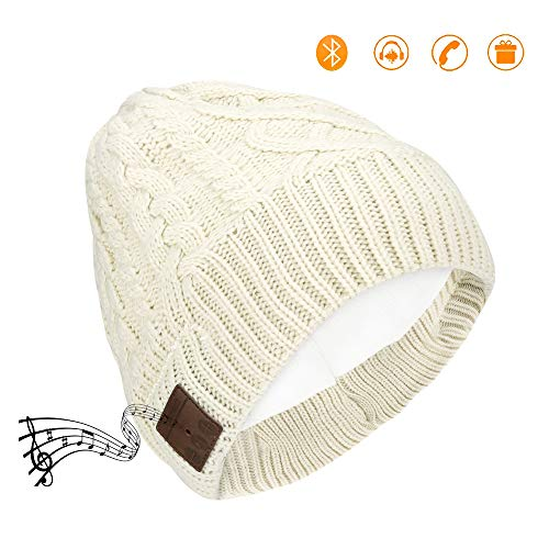 Number-one Bluetooth Beanie Hat Wireless Beanie Music Hat USB Rechargeable Winter Warm Knitted Musical Cap Soft Acrylic Fibers with Headphone Headset Super Bass Stereo Answering Phone for Men Women