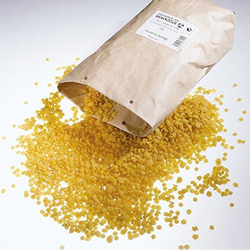 Stockmar Bienenwachs Linsen gelb, 100% Bienenwachs,1 kg