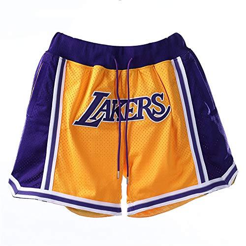 MiSide Basket Pantaloncini, NBA Lakers Lebron James/Kobe Bryant, Shorts da Basket, Retro Pantaloncini,XL-180CM
