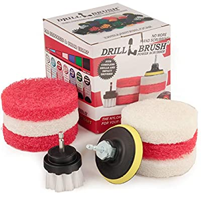 Cleaning Supplies - Bathroom Accessories - Scouring Pad Kit - Grout Cleaner - Scrub Pads - Shower Cleaner - Bathtub -Tile - Bath Mat - Bathroom Sink - Scrubber - Shower Door - Glass Cleaner