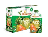 Happy Tot Organic Stage 4 Super Foods Pears Peas & Green Beans + Super Chia, 4.22 Ounce Po...
