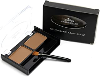 Remeehi Waterproof Eyebrow Powder Palette Perfect Brow Makeup Kit With Eyebrow Brush 2#