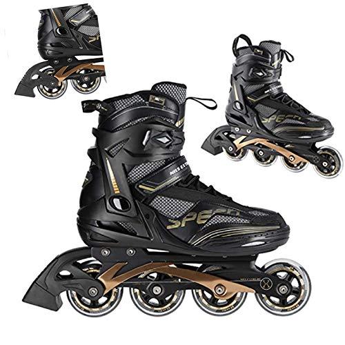 Keepwin Herren Damen Inliner, Größe 37–46 Inlineskates,ABEC9 Chrome Kugellager,Unisex Fitness Skates für Erwachsene Super Blades,82A Rollen,größenverstellbare Inliner (43)