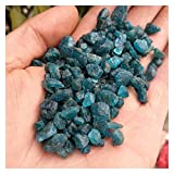 LUKJOPAN Cristal áspero Azul Natural apatito Piedras áspero Cristal Grava minerales espécimen decoración de Boda Acuario (Size : 1000g)