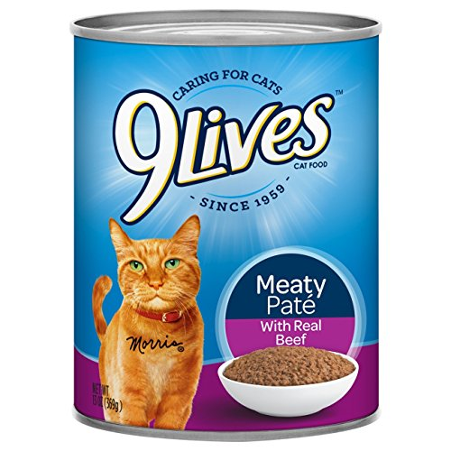 12 pack, 13 oz cans, 9Lives Meaty Paté With Real Beef Wet Cat Food, $8.79 w/ S&S, Amazon